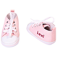 Buy My 1st Years Personalised Trainers, Pink Online at johnlewis.com