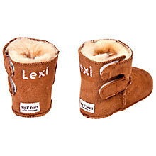 Buy My 1st Years Personalised Booties, Tan Online at johnlewis.com