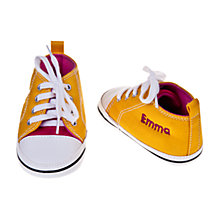 Buy My 1st Years Personalised Trainers, Yellow/Pink Online at johnlewis.com