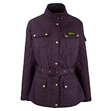 Buy Barbour International Quilted Jacket, Grape/Stone Online at johnlewis.com