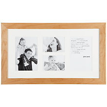 Buy John Lewis Birch Frame, 4 Aperture (22 x 40cm) Online at johnlewis.com