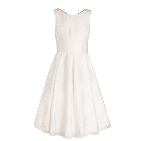 Buy John Lewis Girl Empire Line Lace Bridesmaid Dress, Ivory Online at johnlewis.com
