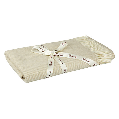 Buy John Lewis Roma Chenille Check Throw, Brown Online at johnlewis.com