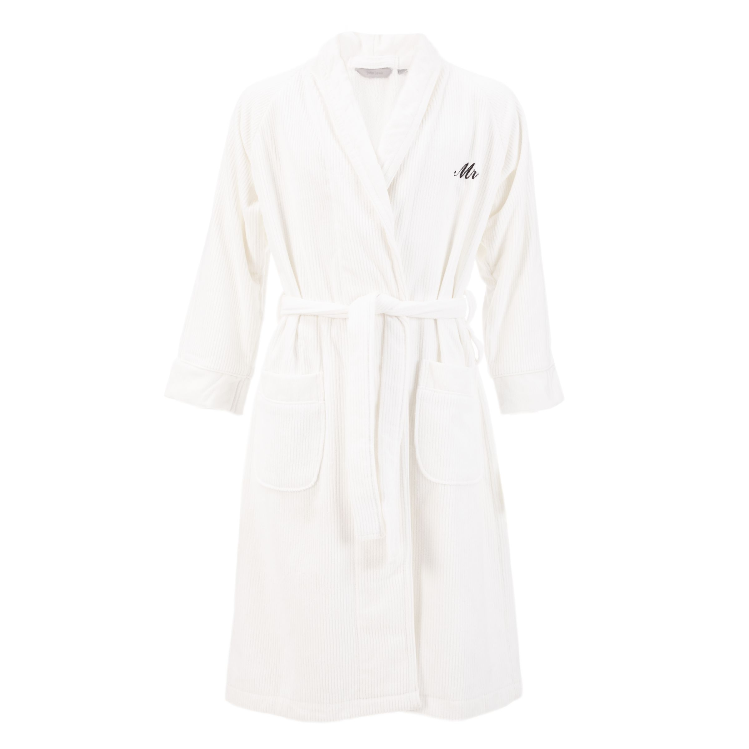 John Lewis Mr Luxury Bathrobe, White