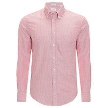 Buy Gant Archive Banker Stripe Shirt, Red Online at johnlewis.com