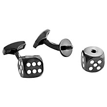 Buy Tateossian Real Dice Cufflinks, Black/White Online at johnlewis.com