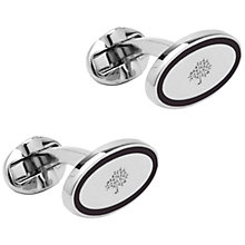 Buy Mulberry Oval Thin Line Cufflinks Online at johnlewis.com