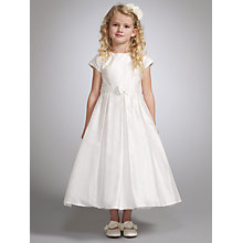 Buy Nicki Macfarlane Hera Cap Sleeve Bow Detail Dress, Ivory Online at johnlewis.com