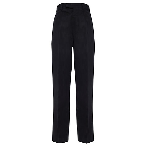 Buy John Lewis Boy Pinstripe Trousers, Navy Online at johnlewis.com