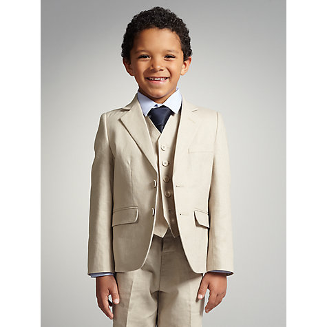 Buy John Lewis Boy Linen Blend Jacket Online at johnlewis.com