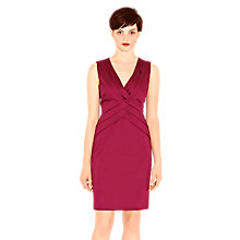 Buy Warehouse Chevron Pleat Shift Dress Online at johnlewis.com