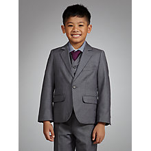 Buy John Lewis Boy Shark Skin Jacket, Grey Online at johnlewis.com