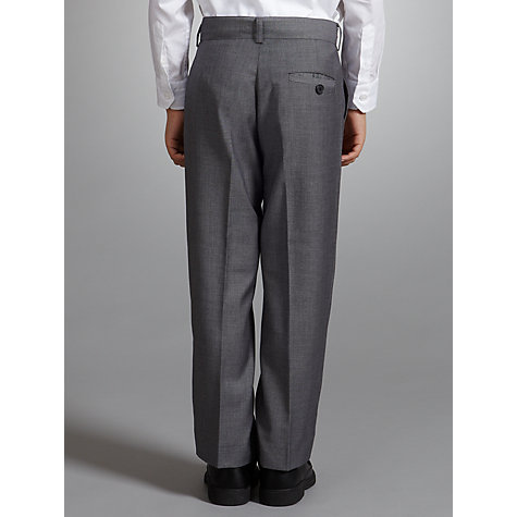 Buy John Lewis Boy Shark Skin Trousers, Grey Online at johnlewis.com