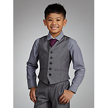 Buy John Lewis Boy Shark Skin Waistcoat, Grey Online at johnlewis.com