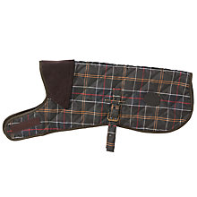 Buy Barbour Quilted Tartan Dog Coat, Olive Online at johnlewis.com