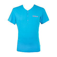 Buy Calvin Klein V-Neck Button Up Comfort Top, Teal Online at johnlewis.com