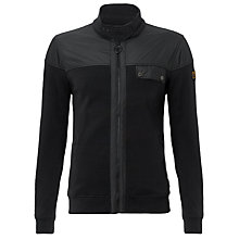 Buy Barbour Carbon Zip Cardigan, Black Online at johnlewis.com