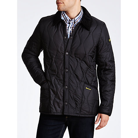 Buy Barbour International Liddlesdale Track Quilted Jacket, Black Online at johnlewis.com