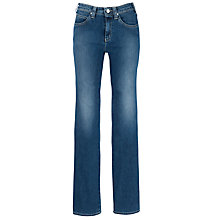 Buy Armani Jeans High Rise Straight Leg Jeans, Mid Blue Online at johnlewis.com