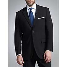 John Lewis Washable Wool Blend Suit, Black