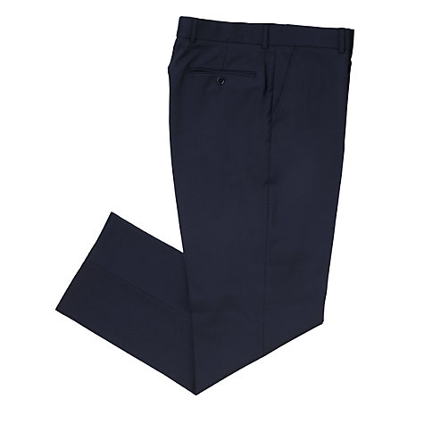 Buy John Lewis Washable Wool Blend Trousers, Navy Online at johnlewis.com