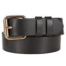 Buy John Lewis Leather Jeans Belt, Black Online at johnlewis.com