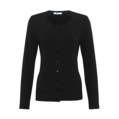 Buy COLLECTION by John Lewis Crew Neck Cardigan, Black Online at johnlewis.com
