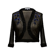Buy Chesca Beaded Mesh Bolero, Black Online at johnlewis.com