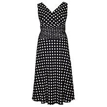 Buy Chesca Spot Flared Dress, Black/Ivory Online at johnlewis.com