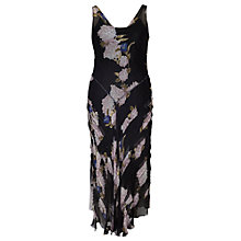 Buy Chesca Wisteria Print Crinkle Dress, Black/Sapphire Online at johnlewis.com