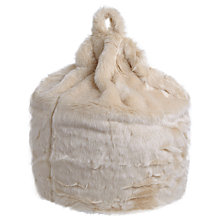 Buy John Lewis Faux Fur Bean Bag Online at johnlewis.com