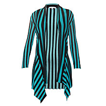 Buy Chesca Ribbed Cardigan, Kingfisher/Black Online at johnlewis.com