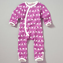 Buy Organics For Kids Bird Romper, Pink Online at johnlewis.com
