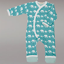 Buy Pigeon Elephant Print Romper, Blue Online at johnlewis.com