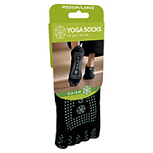 Buy Gaiam All Grip Yoga Socks, Black Online at johnlewis.com