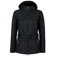 Buy Barbour Grace Polarquilt Jacket, Black Online at johnlewis.com