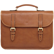 Buy Mulberry Elkington Natural Leather Briefcase, Oak Online at johnlewis.com
