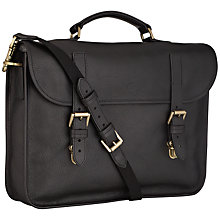 Buy Mulberry Elkington Natural Leather Briefcase, Black Online at johnlewis.com