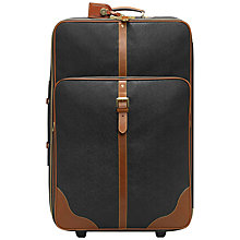 Buy Mulberry Scotchgrain 2-Wheel Large Leather Trim Suitcase Online at johnlewis.com