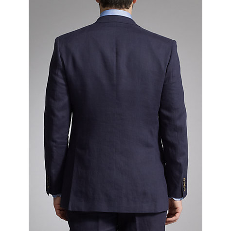 Buy John Lewis Classic Linen Suit Jacket, Navy Online at johnlewis.com