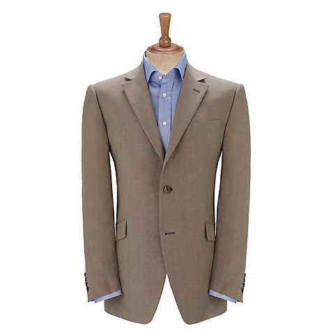 Buy John Lewis Classic Linen Suit Jacket, Taupe Online at johnlewis.com