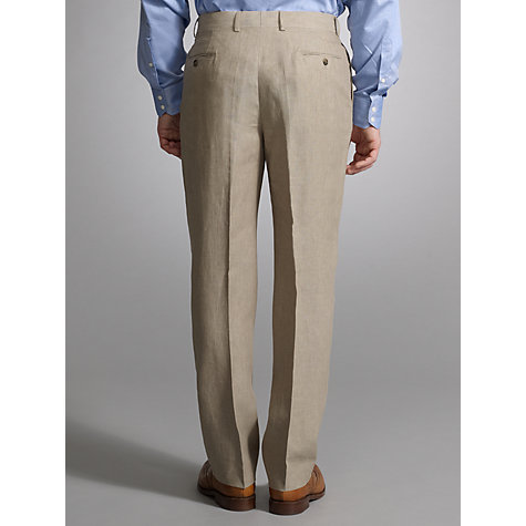 Buy John Lewis Classic Linen Suit Trousers, Stone Online at johnlewis.com