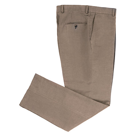 Buy John Lewis Classic Linen Suit Trousers, Taupe Online at johnlewis.com