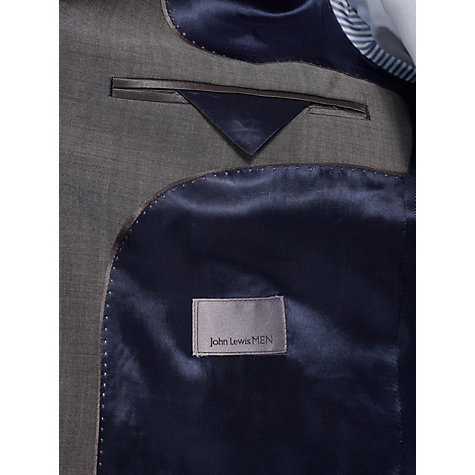 Buy John Lewis Wool Mohair Suit Jacket, Grey Online at johnlewis.com