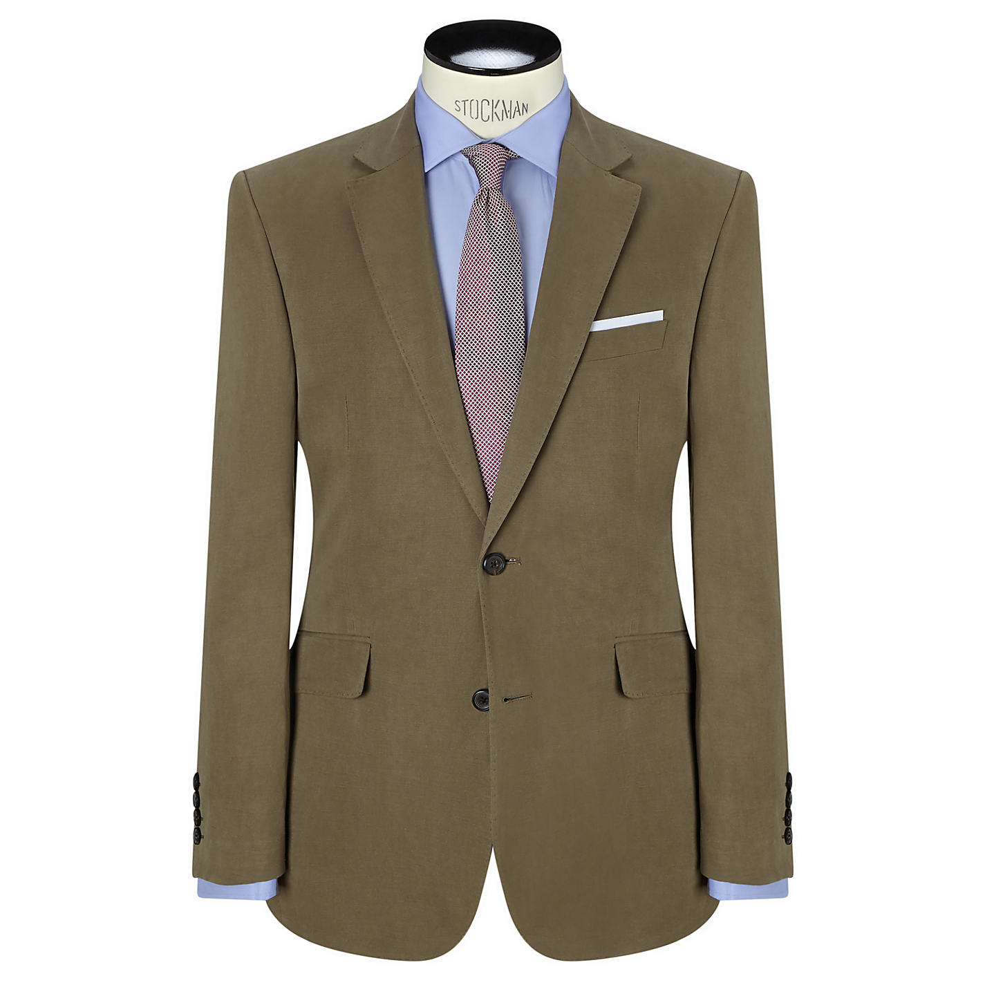 Buy John Lewis Silk and Linen Suit Jacket, Mink | John Lewis