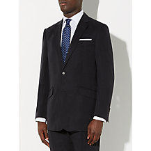 John Lewis Silk and Linen Suit, Navy
