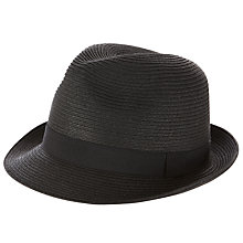 Buy John Lewis Packable Trilby, Black Online at johnlewis.com
