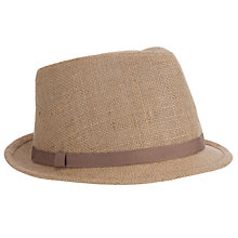 Buy John Lewis Hessian Smart Trilby Hat, Stone Online at johnlewis.com