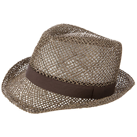 Buy John Lewis Seagrass Straw Trilby, Khaki Online at johnlewis.com