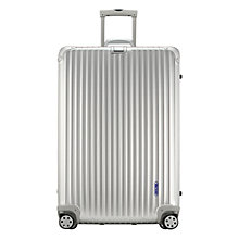 Buy Rimowa Topas Spinner Suitcase, Silver, Large Online at johnlewis.com